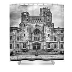 Shower Curtain featuring the photograph Scottish Rite Cathedral by Howard Salmon