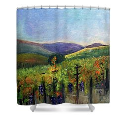 Scotts Vineyard Shower Curtain by Donna Walsh