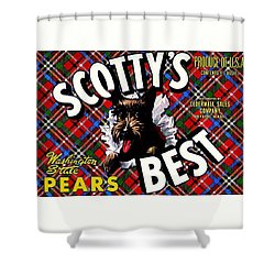 Scotty's Best Washington State Pears Shower Curtain by Peter Gumaer Ogden