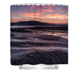 Scrabo Above Strangford Lough Shower Curtain