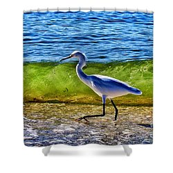 Scrambling Shower Curtain