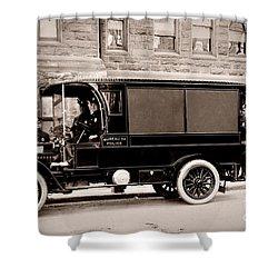 Scranton Pennsylvania  Bureau Of Police  Paddy Wagon  Early 1900s Shower Curtain