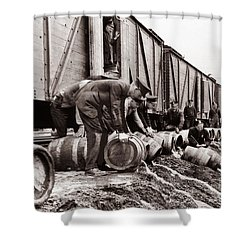 Scranton Police Dumping Beer During Prohibition  Scranton Pa 1920 To 1933 Shower Curtain