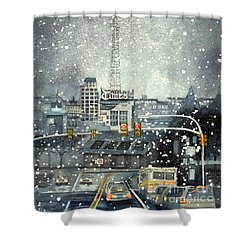 Scranton Times - Auld Lang Syne Shower Curtain