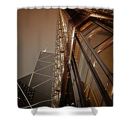 Scraping The Sky Shower Curtain by Loriental Photography
