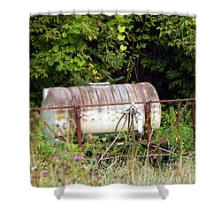Scrapped Shower Curtain