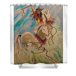 Scream Of Peace Shower Curtain by V Boge