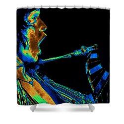 Screaming Cosmic Guitar Shower Curtain by Ben Upham