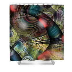 Screaming Spirals Shower Curtain