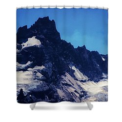 Shower Curtain featuring the photograph Screaming Yeti by Timothy Bulone