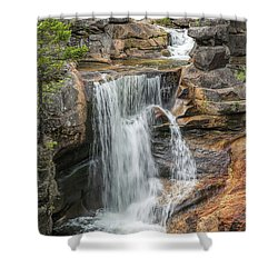 Screw Auger Falls Shower Curtain