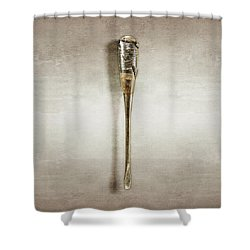 Screwdriver With Tape Handle Shower Curtain by YoPedro