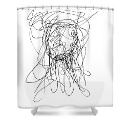 Scribble For Gusts, Dust, The Sun... Shower Curtain