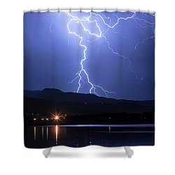 Shower Curtain featuring the photograph Scribble In The Night by James BO Insogna