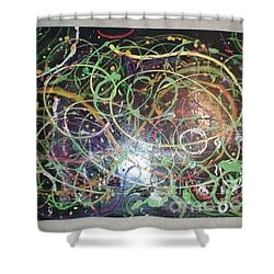 Scribble Shower Curtain by Talisa Hartley
