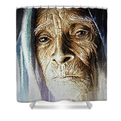 Shower Curtain featuring the painting Scripts Of Ancestral Light  by J- J- Espinoza
