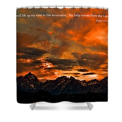 Scripture And Picture Psalm 121 1 2 Shower Curtain