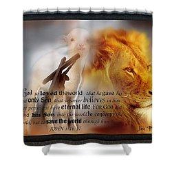 Scripture Art    Lamb Of God Shower Curtain