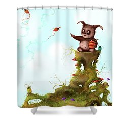 Scrumpy And The Phizz Poppers  Shower Curtain