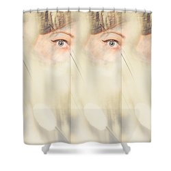 Scrying Parallel Lives Shower Curtain