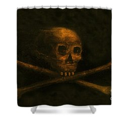 Scull And Crossbones Shower Curtain by David Lee Thompson