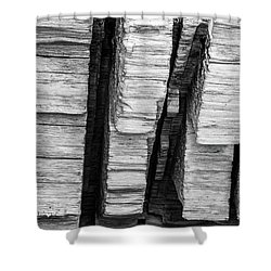 Sculpted Log Shower Curtain
