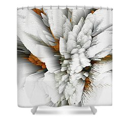 Shower Curtain featuring the digital art Sculptural Series Digital Painting 05.072311 by Kris Haas