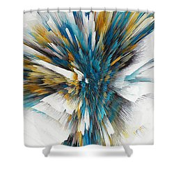 Shower Curtain featuring the painting Sculptural Series Digital Painting 08.072311ex490l by Kris Haas