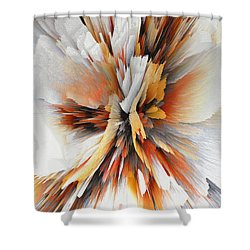 Shower Curtain featuring the digital art Sculptural Series Digital Painting 22.120210eext290lsqx2 by Kris Haas
