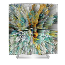 Shower Curtain featuring the digital art Sculptural Series Digital Painting 23.102011windextsc590l by Kris Haas