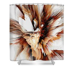 Shower Curtain featuring the digital art Sculptural Series Digital Painting 23.120210ext5100l by Kris Haas