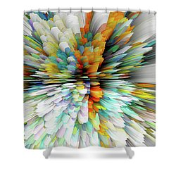Shower Curtain featuring the digital art Sculptural Series Painting23.102011windblastsccvsext4100l by Kris Haas