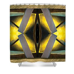 Sculpture On Southport N66v1 Triptych Shower Curtain by Raymond Kunst