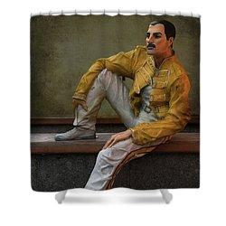 Sculptures Of Sankt Petersburg - Freddie Mercury Shower Curtain