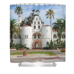 Sdsu Drawing Shower Curtain