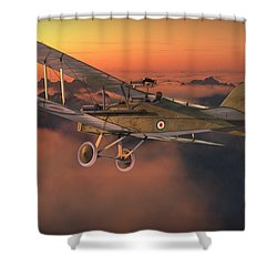 S.e. 5a On A Sunrise Morning Shower Curtain by David Collins