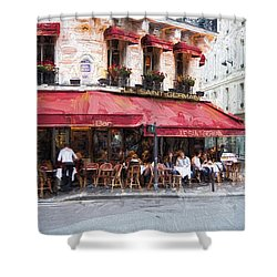 Shower Curtain featuring the photograph Le Saint Germain by John Rivera