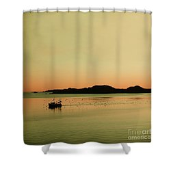 Sea After Sunset Shower Curtain