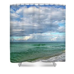 Sea And Sky - Florida Shower Curtain by Sandy Keeton