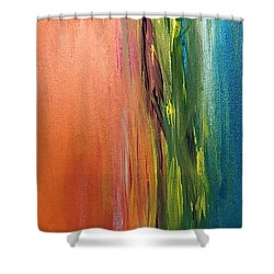 Sea And Sky Metallic Shower Curtain