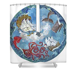 Sea Battle Shower Curtain