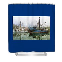 Sea Breeze And Lady Law Shower Curtain