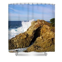 Shower Curtain featuring the photograph Sea Cave Big Sur by Floyd Snyder