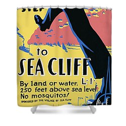 Sea Cliff Long Island Poster 1939 Shower Curtain