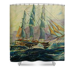 Sea Clipper Shower Curtain