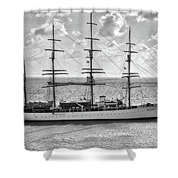 Sea Cloud Sailboat Shower Curtain