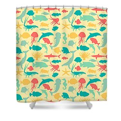 Sea Creatures Shower Curtain by Naviblue
