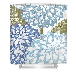Sea Dahlias I Shower Curtain