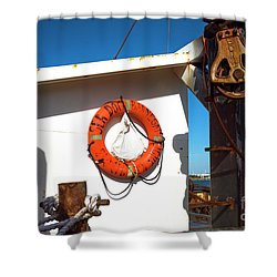 Shower Curtain featuring the photograph Sea Dog Barnegat Light by John Rizzuto