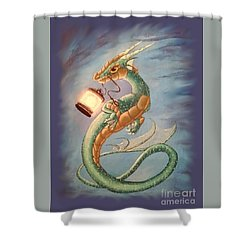 Sea Dragon And Lantern Shower Curtain